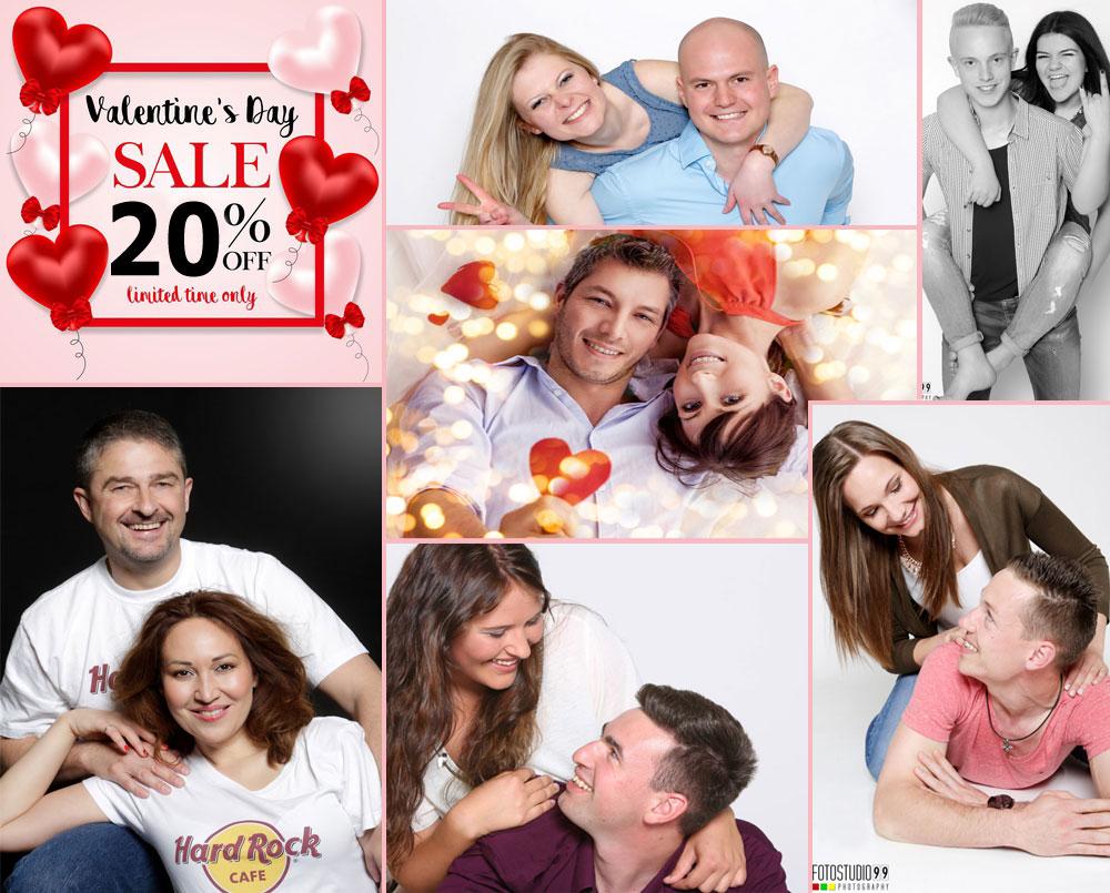 Fotoshooting zum Valentinstag mit 20% Rabatt auf Frendsshootings